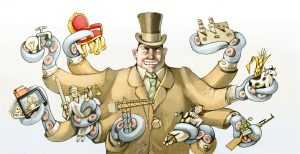 a capitalist rich wraps its tentacles so many sectors of society