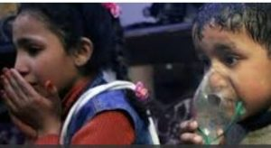 Syrian kids affected by gas