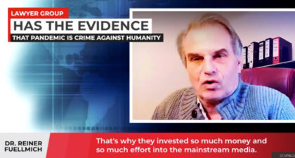 DR REINER FUELLMICH, INTERNATIONAL LAWYER HAS ALL THE EVIDENCE THAT PANDEMIC IS CRIME