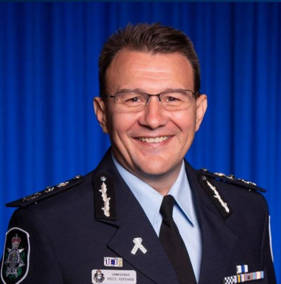 Federal Police Commissioner Reece Kershaw